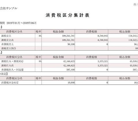 消費税区分集計表
